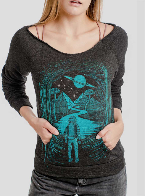 Another World  - Multicolor on Charcoal Triblend Women's Maniac Sweatshirt