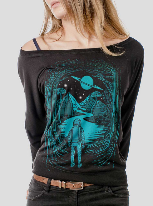 Another World  - Multicolor on Black Women's Long Sleeve Dolman