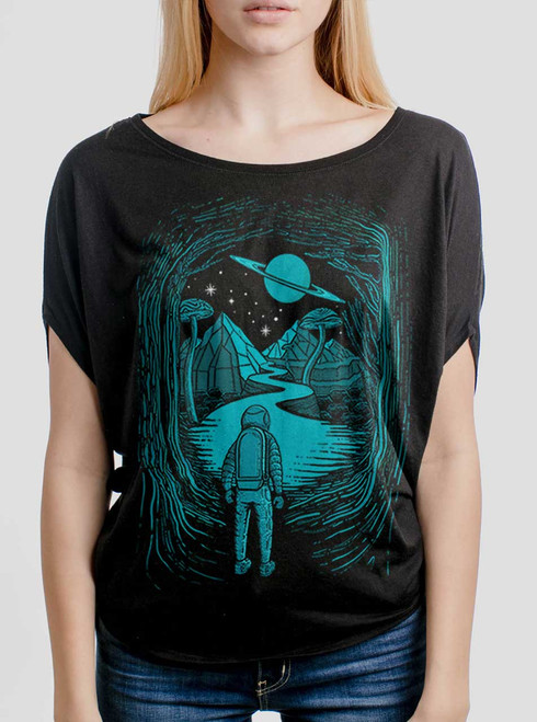 Another World - Multicolor on Black Women's Circle Top