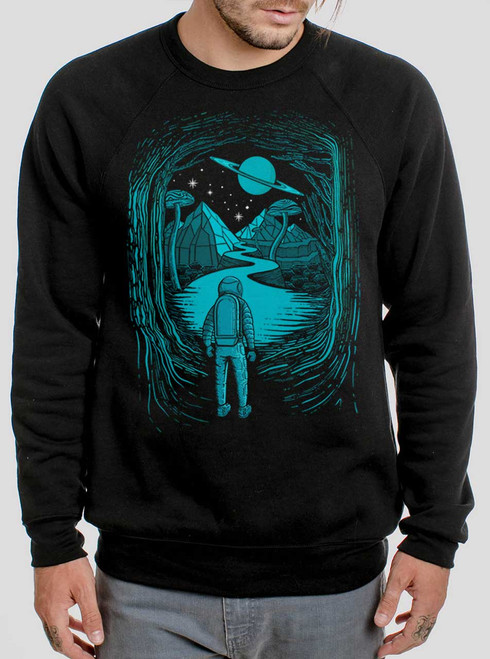 Another World - Multicolor on Black Men's Sweatshirt