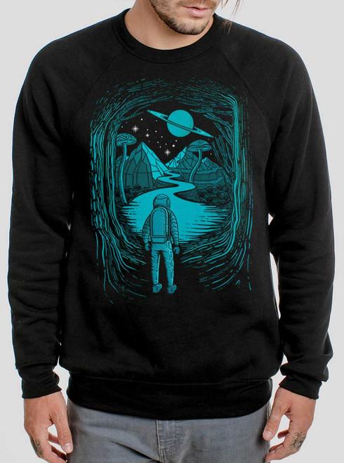 Another World - Multicolor on Black Men's Sweatshirt