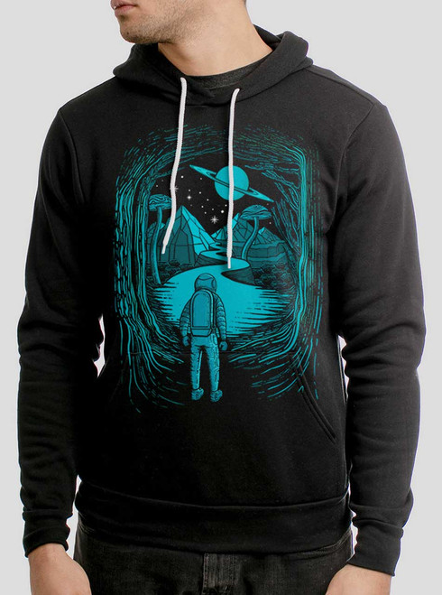 Another World - Multicolor on Black Men's Pullover Hoodie