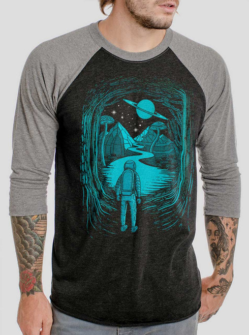 Another World - Multicolor on Heather Black and Grey Triblend Raglan