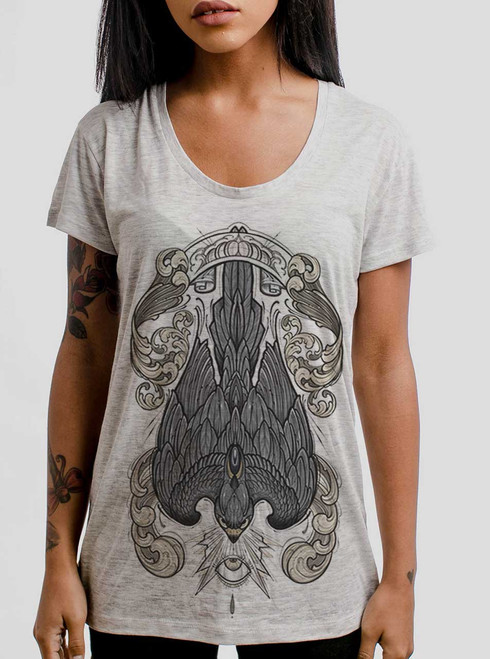 Peregrine - Multicolor on Heather Oatmeal Womens Relaxed Fit T Shirt