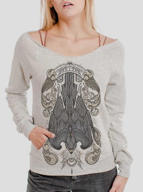 Peregrine - Multicolor on Oatmeal Triblend Women's Maniac Sweatshirt