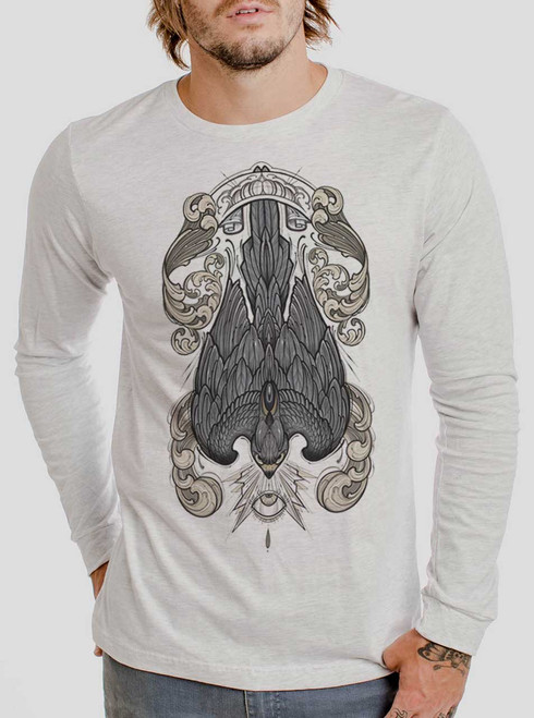 Peregrine - Multicolor on Heather White Men's Long Sleeve