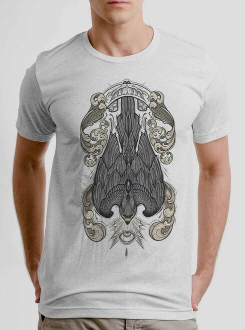 Peregrine - Multicolor on Heather White Triblend Mens T Shirt