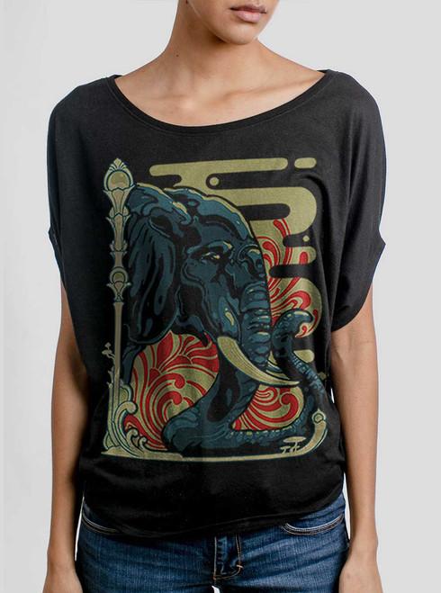 Elefante - Multicolor on Black Women's Circle Top