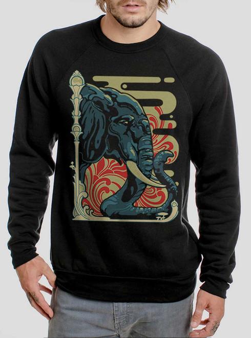 Elefante - Multicolor on Black Men's Sweatshirt