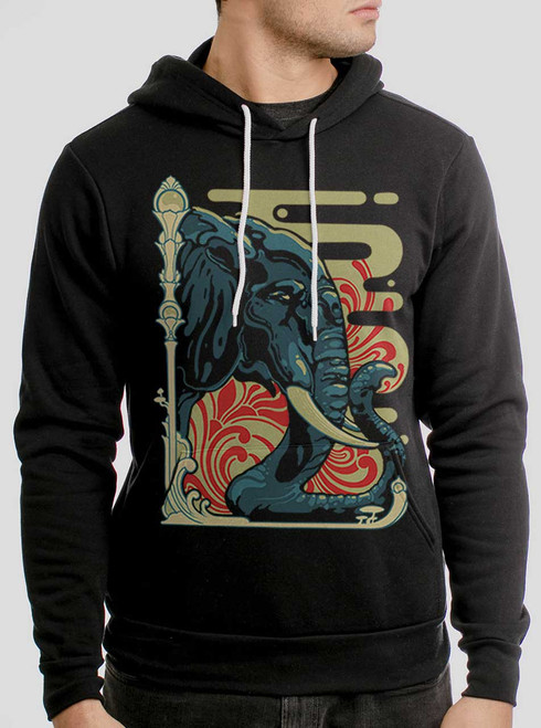 Elefante - Multicolor on Black Men's Pullover Hoodie