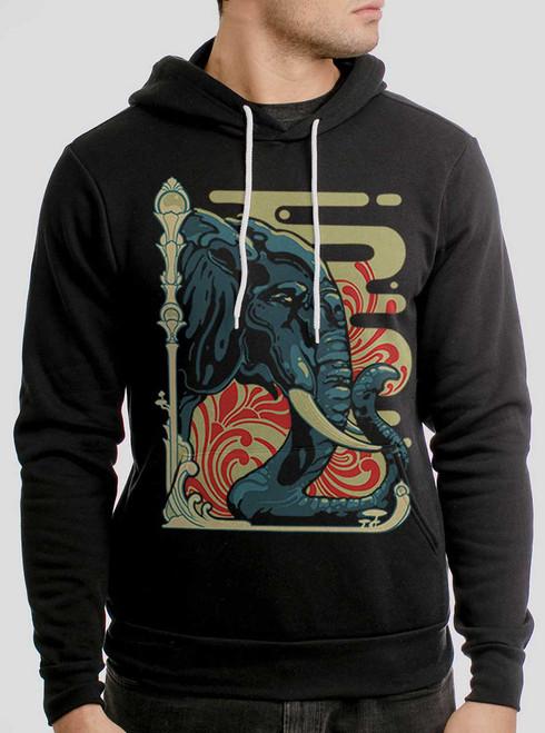 Elefante - Multicolor on Black Men's Pullover Hoodie