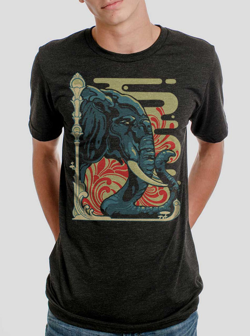 Elefante - Multicolor on Heather Black Triblend Mens T Shirt