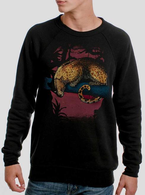 Leopard - Multicolor on Black Men's Sweatshirt