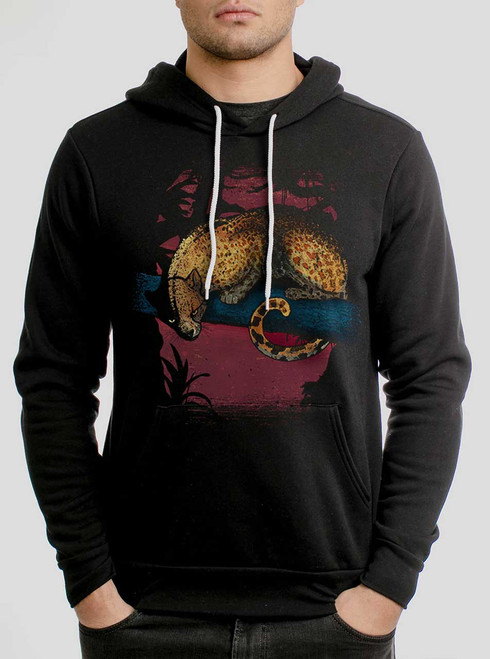 Leopard - Multicolor on Black Men's Pullover Hoodie