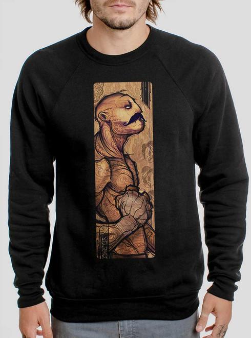 Pugilist - Multicolor on Black Men's Sweatshirt