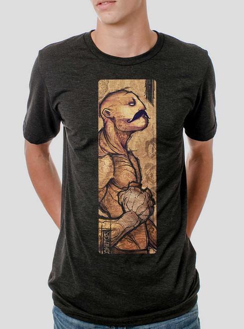Pugilist - Multicolor on Heather Black Triblend Mens T Shirt