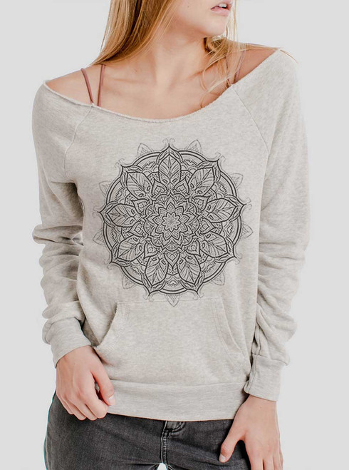 Mandala - Multicolor on Oatmeal Triblend Women's Maniac Sweatshirt