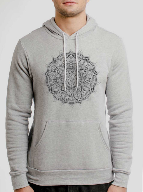 Mandala - Multicolor on Athletic Heather Men's Pullover Hoodie