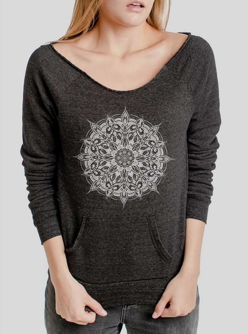 Halo - White on Charcoal Triblend Women's Maniac Sweatshirt