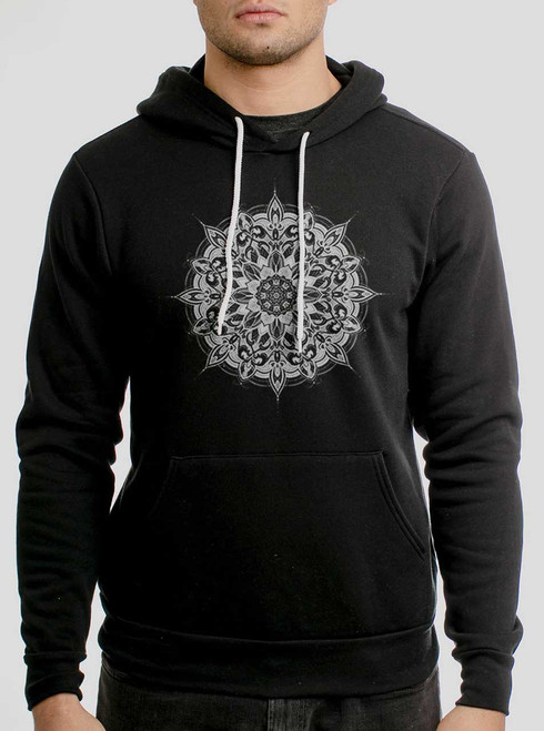 Halo - White on Black Men's Pullover Hoodie