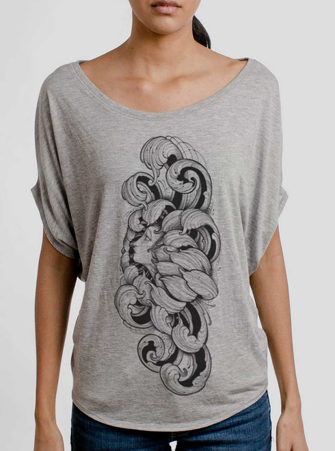Lady Floral - Multicolor on Athletic Heather Women's Circle Top