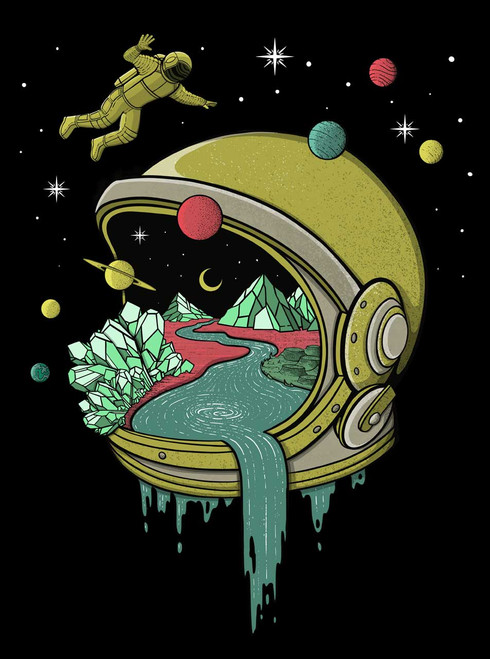 Deep Space - Multicolor on Black Toddler T-Shirt