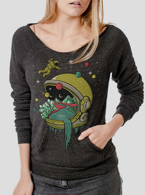 Deep Space - Multicolor on Charcoal Triblend Women's Maniac Sweatshirt