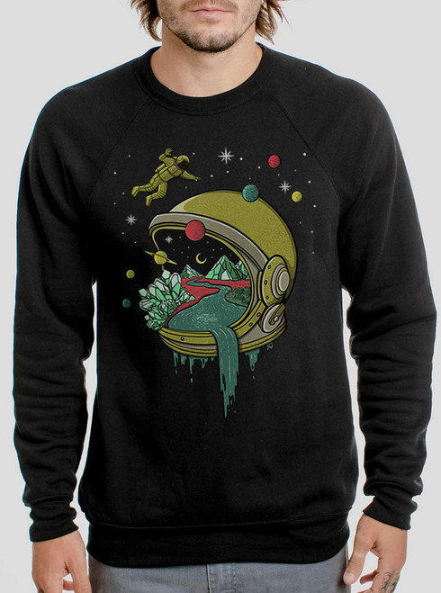 Deep Space - Multicolor on Black Men's Sweatshirt