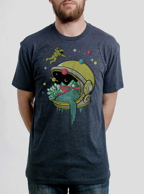 Deep Space - Multicolor on Heather Navy Triblend Mens T Shirt
