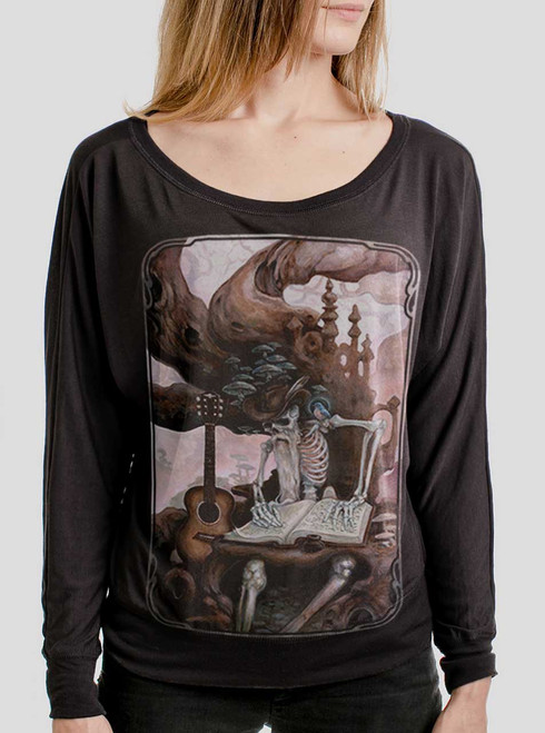 Dead Balladeer  - Multicolor on Black Women's Long Sleeve Dolman