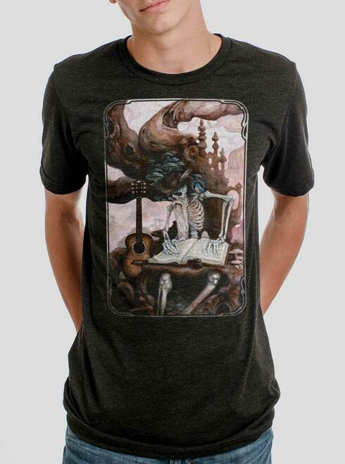 Dead Balladeer - Multicolor on Heather Black Triblend Mens T Shirt