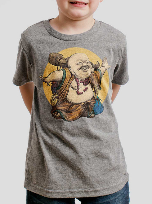 Little Buddha - Multicolor on Heather Grey Triblend Youth T-Shirt