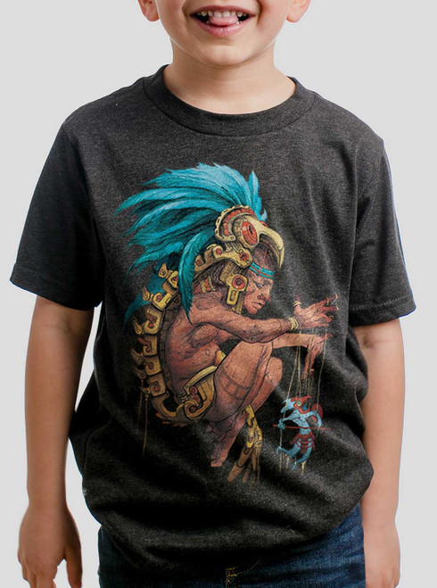 Azteca - Multicolor on Heather Black Triblend Youth T-Shirt