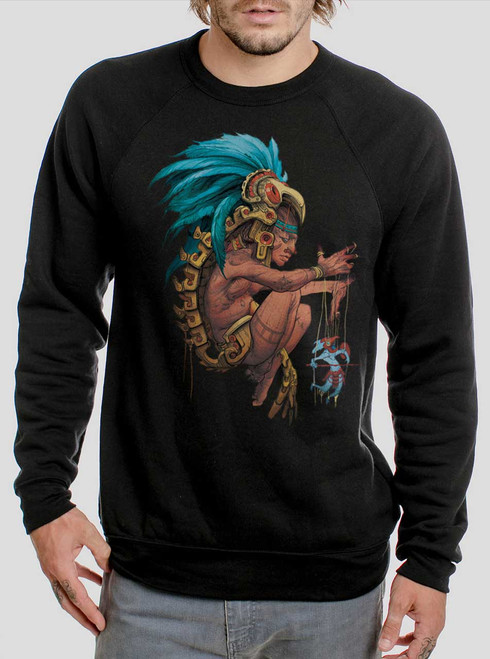 Azteca - Multicolor on Black Men's Sweatshirt