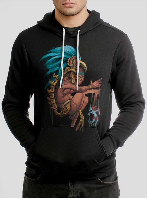 Azteca - Multicolor on Black Men's Pullover Hoodie