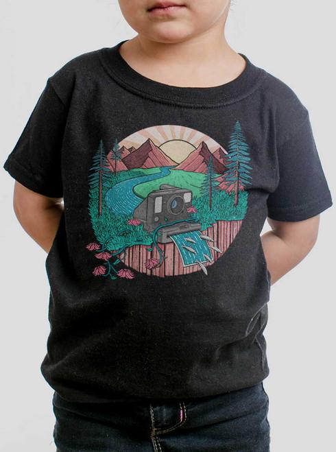 Snap Shot - Multicolor on Black Toddler T-Shirt