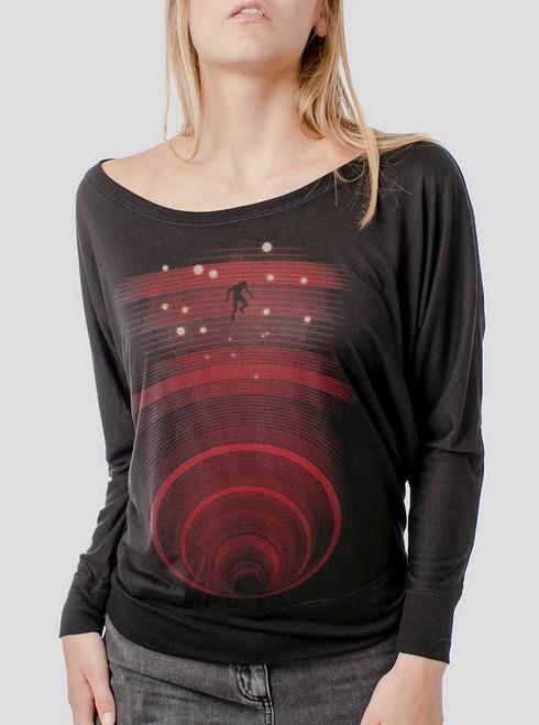 Abyss - Multicolor on Black Women's Long Sleeve Dolman