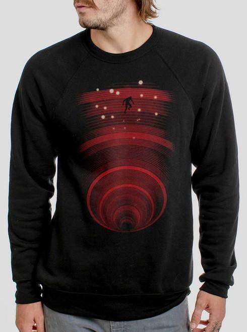 Abyss - Multicolor on Black Men's Sweatshirt
