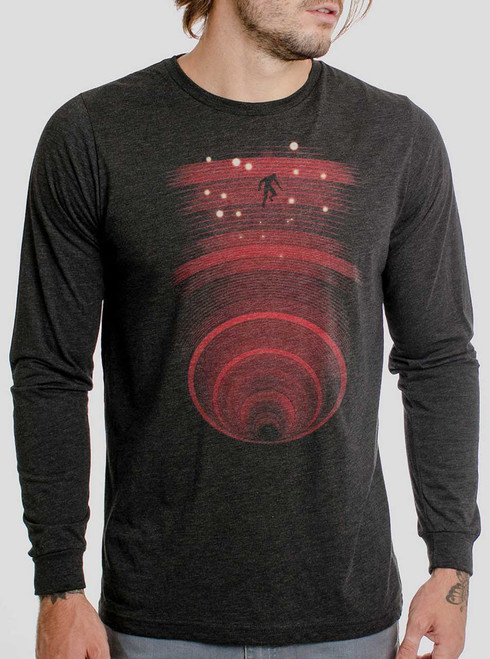 Abyss - Multicolor on Heather Black Triblend Men's Long Sleeve