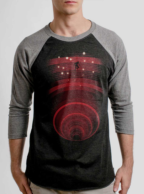 Abyss - Multicolor on Heather Black and Grey Triblend Raglan