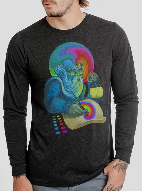 Inspiration - Multicolor on Heather Black Triblend Men's Long Sleeve
