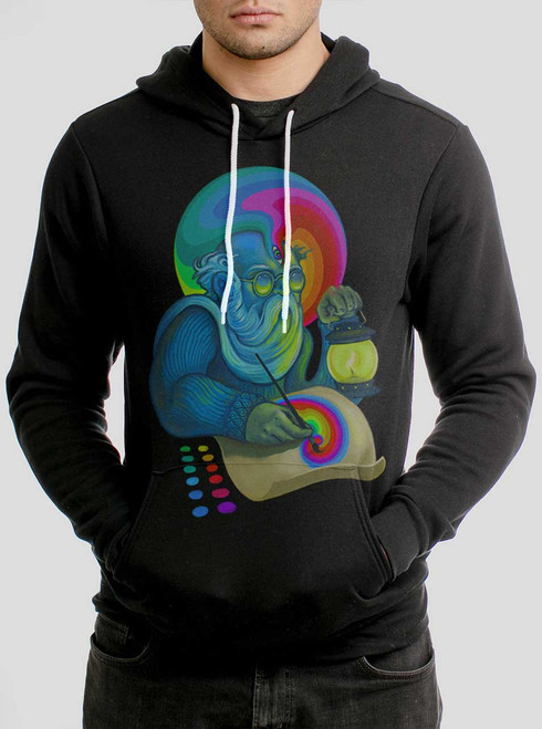 Inspiration - Multicolor on Black Men's Pullover Hoodie