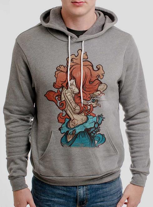 Gypsy - Multicolor on Heather Grey Men's Pullover Hoodie