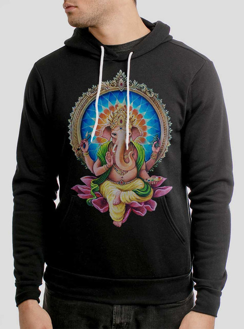 Remover of Obstacles - Multicolor on Black Men's Pullover Hoodie