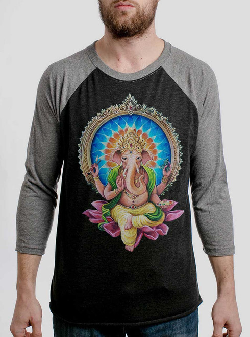 Remover of Obstacles - Multicolor on Heather Black and Grey Triblend Raglan