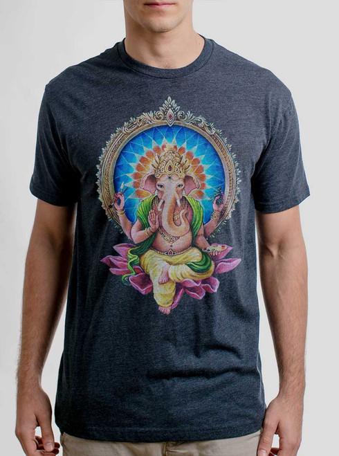 Remover of Obstacles - Multicolor on Heather Navy Mens T Shirt