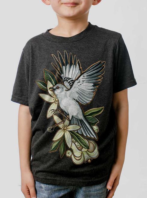 Mockingbird - Multicolor on Heather Black Triblend Youth T-Shirt