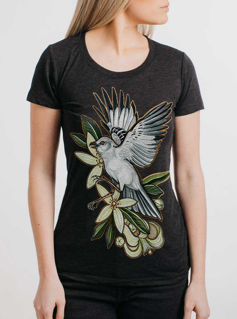 Mockingbird - Multicolor on Heather Black Triblend Womens T-Shirt