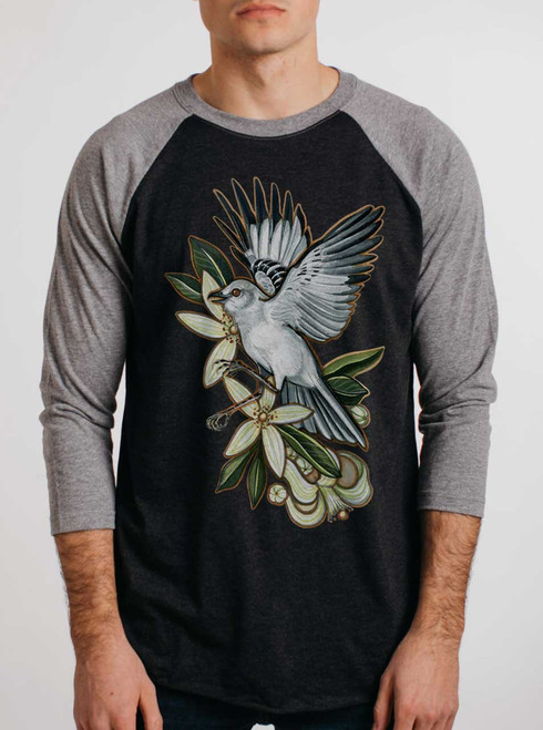 Mockingbird - Multicolor on Heather Black and Grey Triblend Raglan