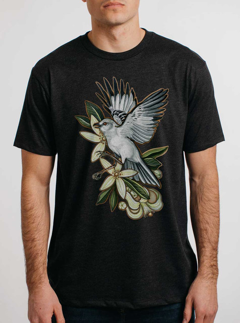 Mockingbird - Multicolor on Heather Black Triblend Mens T Shirt